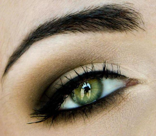 lagan svakodnevni make-up za zelene oči
