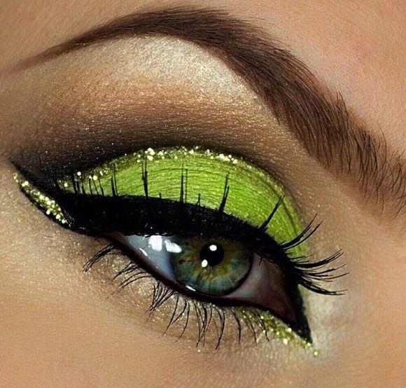 orijentalni make-up zelenih očiju