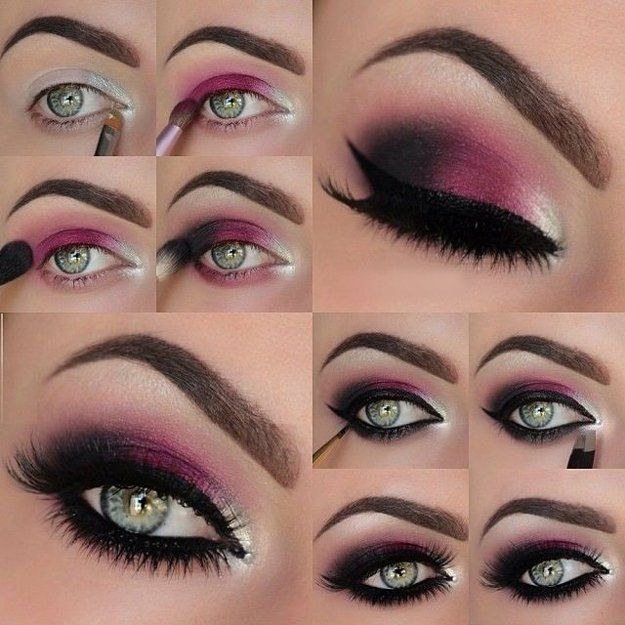 orijentalni make-up za sive i zelene oči