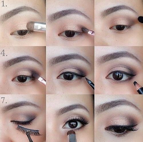 stvarajući arapsku šminku za smeđe oči