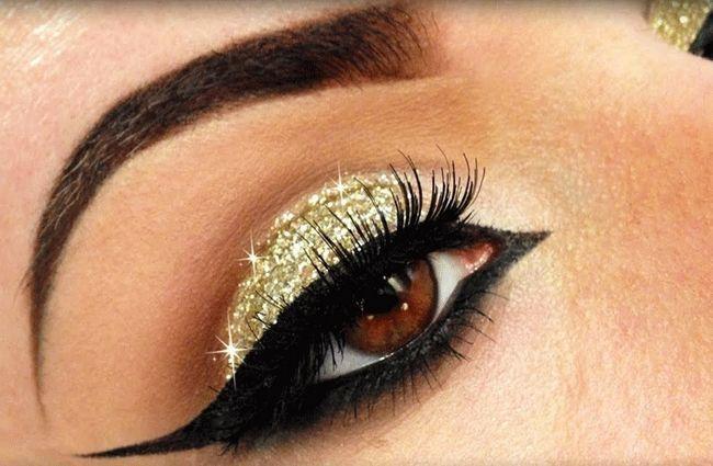 orijentalni šminka za smeđe oči