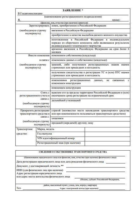 Prijava za uklanjanje automobila iz registra