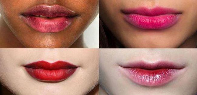 učinak poljubljenih usana u šminku