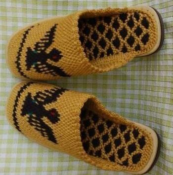 plesti papuče pletenim iglicama