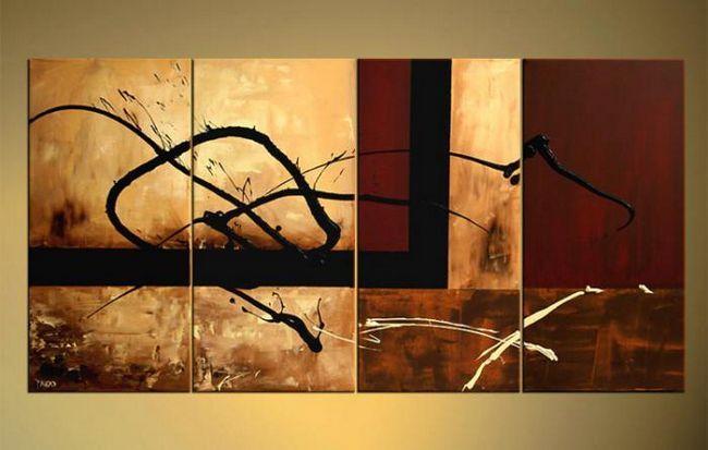картины в коричневых тонах