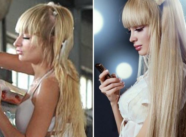 Anzhelika Kenova prije i poslije plastike