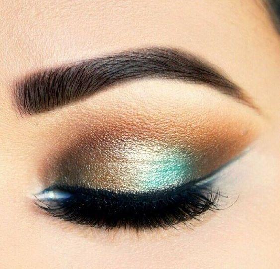 večernji make-up za tamno smeđe oči