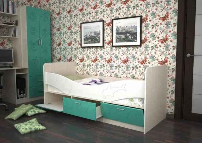 krevet dupina s ladicama za otvore