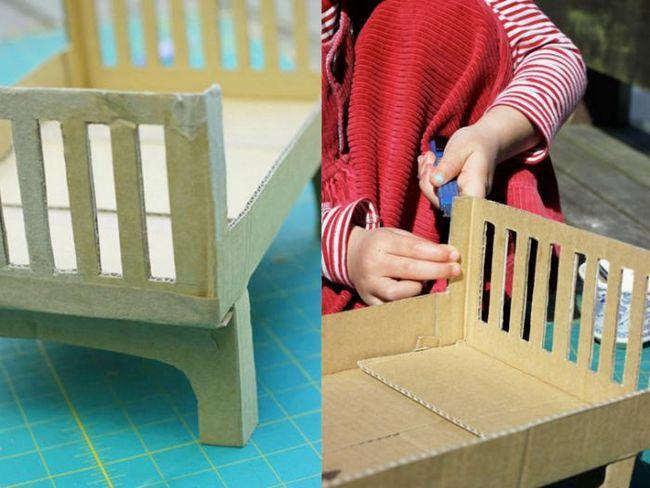 dječji krevetić za lutku vlastitim rukama