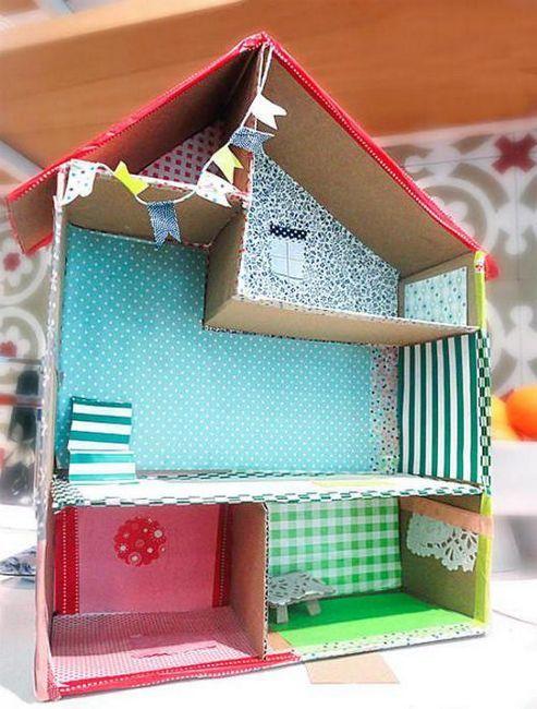 kako napraviti kuću kartona s vlastitim rukama