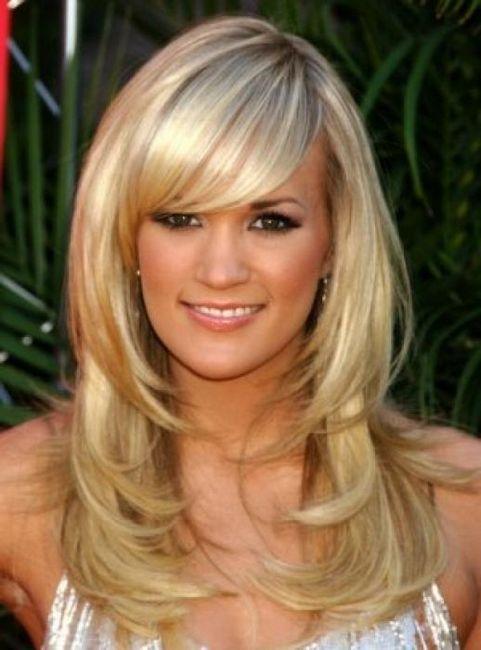 frizure za dugu kosu s praskama