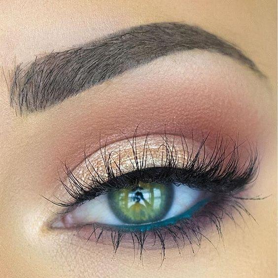 šminka za plavuše zelenih očiju