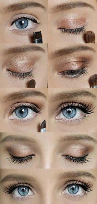 make-up za plavuše s plavim očima