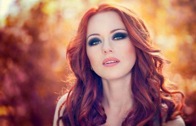 make-up za crvenokose s plavim očima