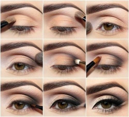 siva oči tamna kosa šminka