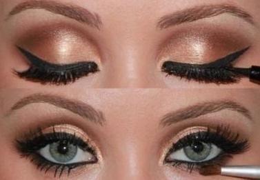 zelene oči svijetlo smeđa kosa make-up