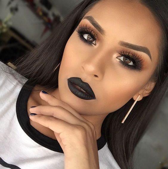 Šminka s crnim ružem