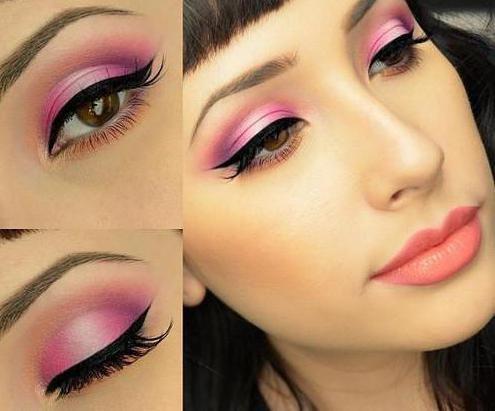 make-up za smeđe oči u ružičastim tonovima