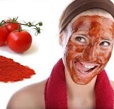 maska za lice od rajčice