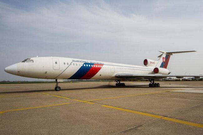 tehničke karakteristike zrakoplova koji 154