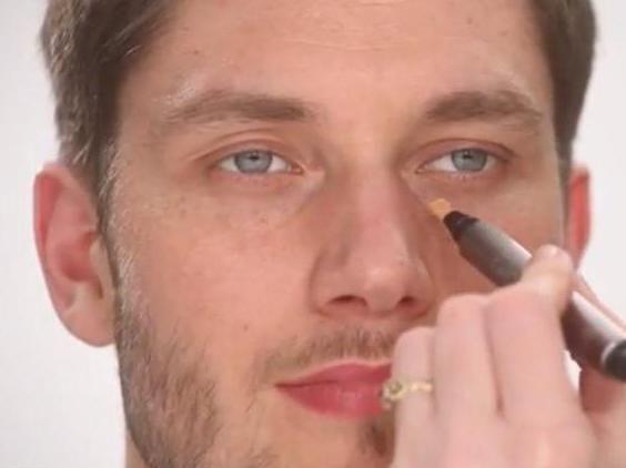 muški make-up za fotografiju fotografije