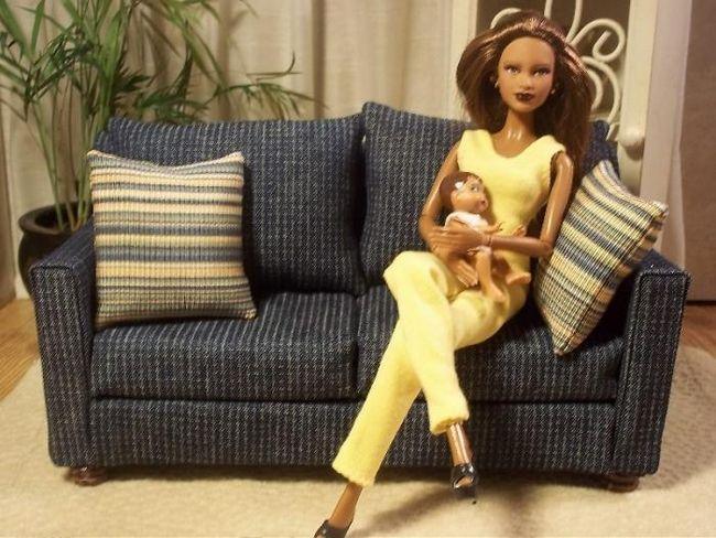 kako napraviti lutku barbie namještaja