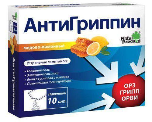 Učinkovit prah za prehladu i gripu
