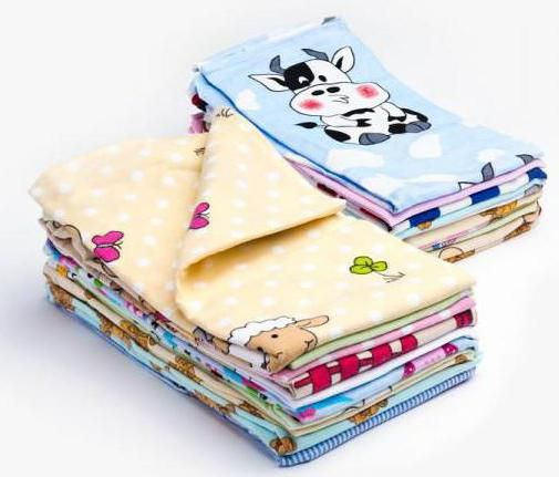 veličina flanelnih pelena za novorođenče