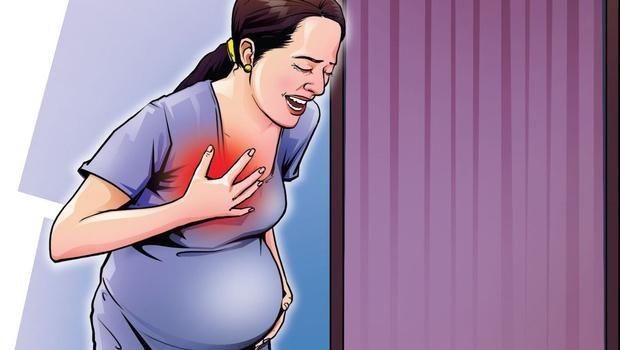 zaustavio je bol u prsima tijekom trudnoće