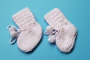 čizme za početnike s iglama za pletenje