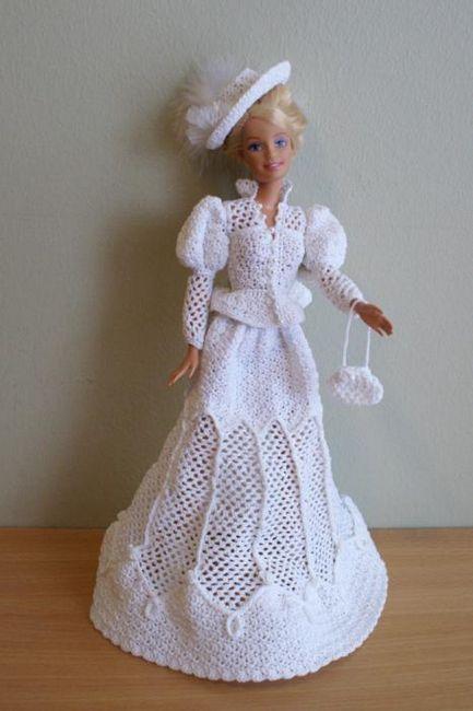 haljina za barbie kukičanje