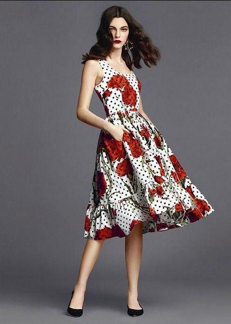 crvena haljina dolce gabbana