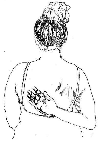 bol na lijevoj strani ispod škapule