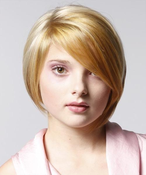 Frizure na kratkoj kosi na okruglom licu