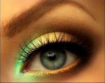 ispravan make-up za plave oči