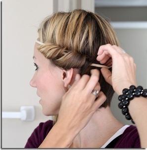 elastična traka za grčku frizuru