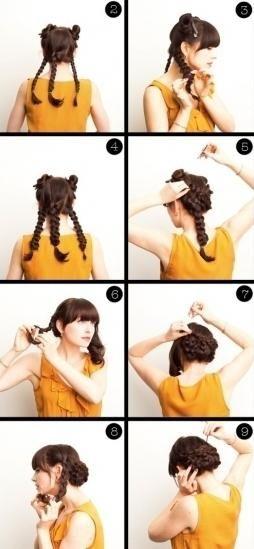 jednostavna frizura za dugu kosu