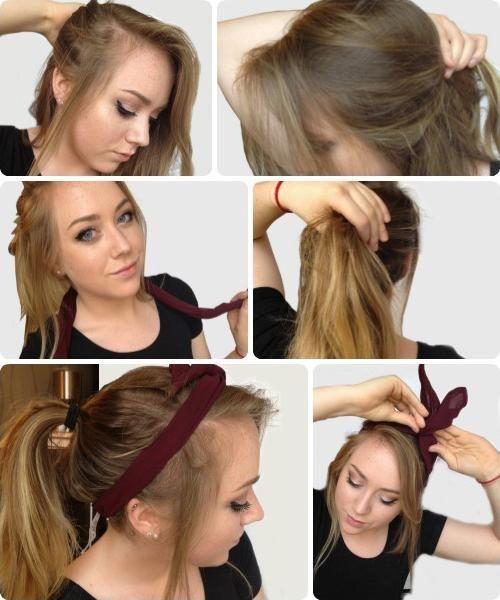 jednostavna frizura s vlastitim rukama za dugu kosu