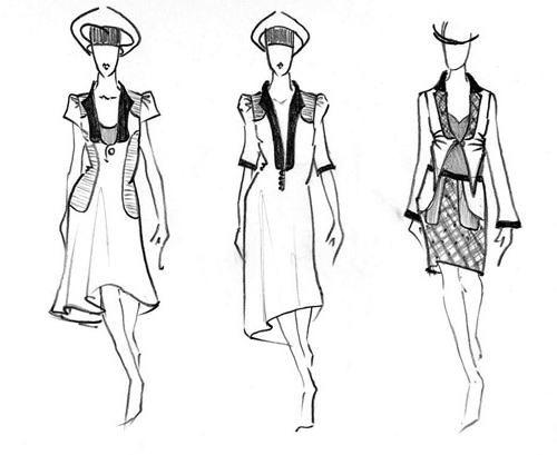 Razmislite o tome kako nacrtati haljinu