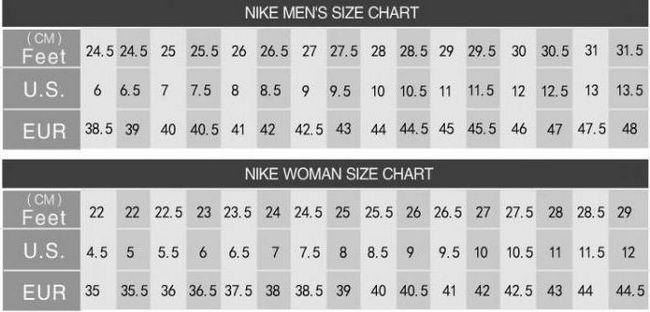 Nike veličina cipela mreže