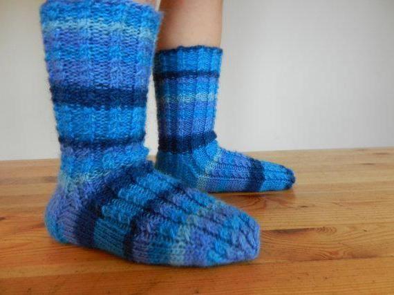 pletene vunene čarape za djecu