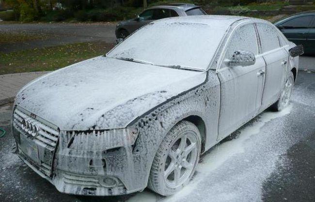 upute za pjenu za pranje automobila