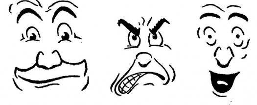 smiješno lice u olovku
