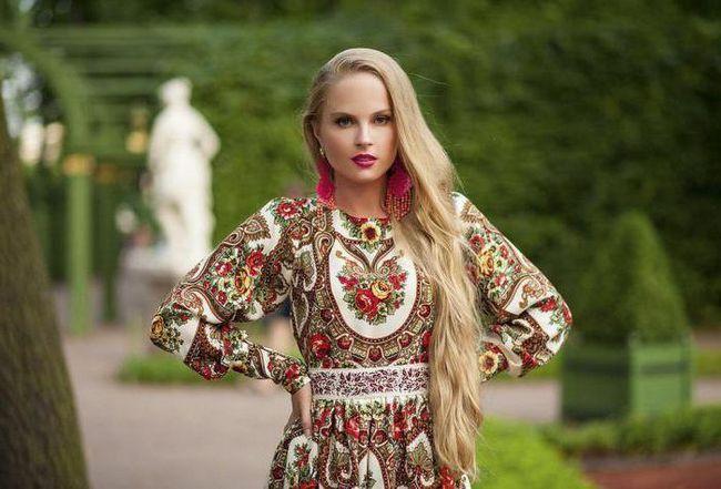 ruski stil u odjeći fotografija