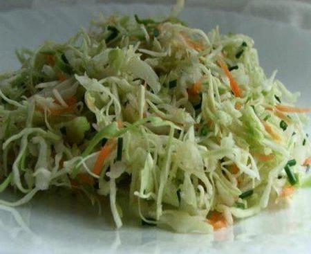 Salata od kupusa s maslacem kalorija