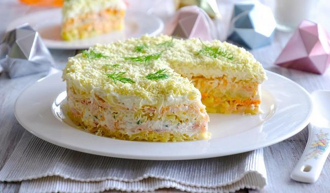 Mimoza salata recept s fotografijom