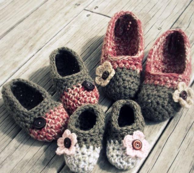 pletene pletene papuče za djecu