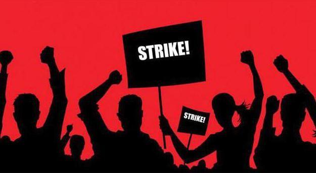značenje riječi štrajk