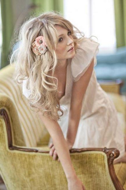 Frizure za vjenčanja srednje duljine kose