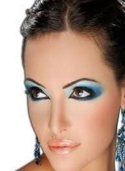 plava svadbena šminka